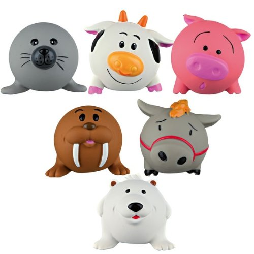 Trixie Latex Fun Farm Yard Dog Squeeky Dog Toy 6cm