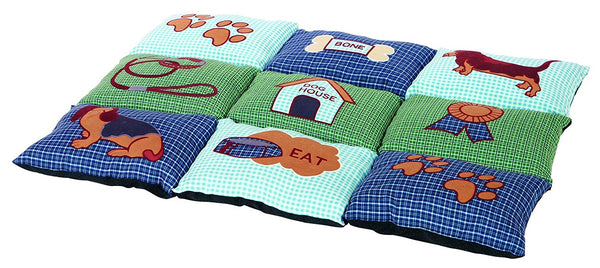 Trixie Patchwork Dog Blanket Non-Slip 80 x 55 cm Blue/Green