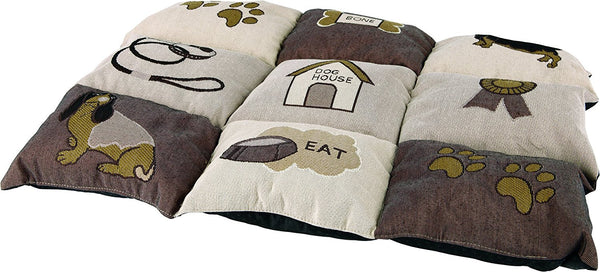 Trixie Patchwork Dog Blanket, 55 x 40 cm Brown/Beige