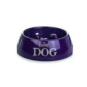 Beeztees Melamine Diet Bowl Litre Best Dog, 14 x 4,5CM-140ml Purple