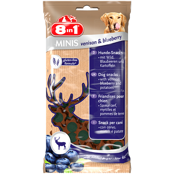 8in1 Minis Venison & Blueberry - 100g