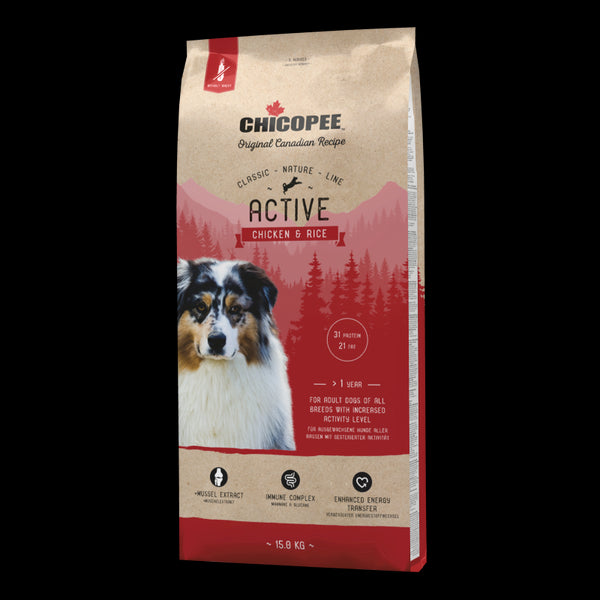 Chicopee Classic Nature Line Active Chicken & Rice 15kg