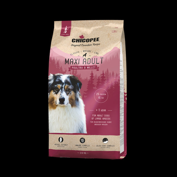 Chicopee Classic Nature Line Maxi Adult Poultry & Millet 2kg