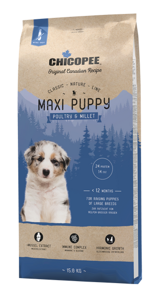 Chicopee Classic Nature Line Maxi Puppy Poultry & Millet 2kg