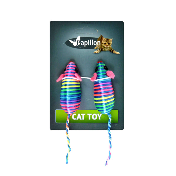 Papillon Cat toy coloured mice