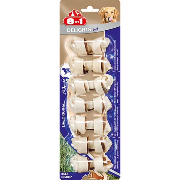 8in1 Beef Delights Bone XS - 7pcs
