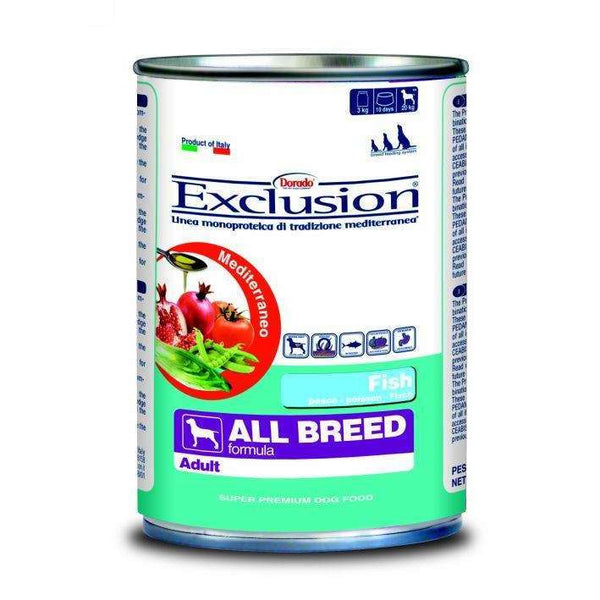 Exclusion Mediterranean  - Adult Dog /All Breed Fish 400gr