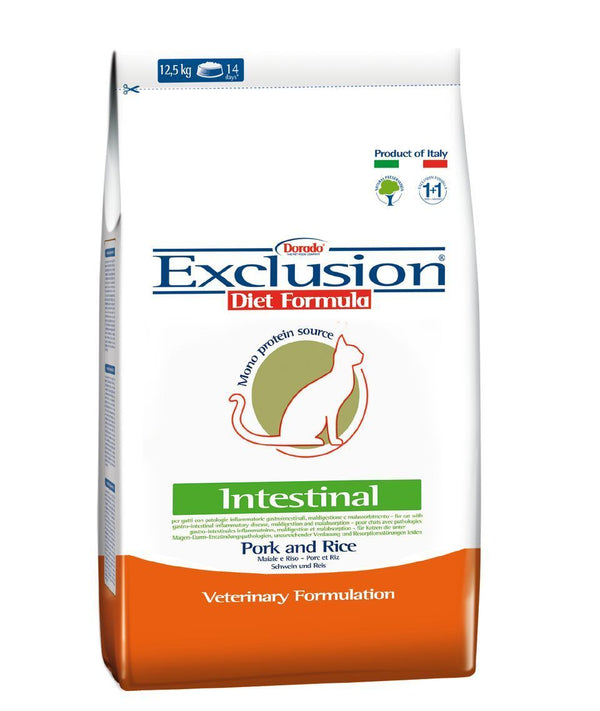 Exclusion Diet Intestinal - Adult Cat Pork and Rice 2kg