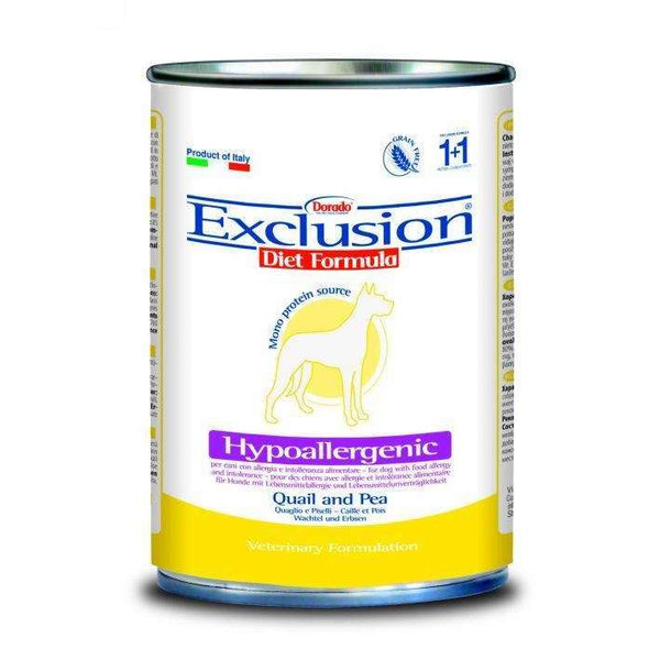 Exclusion Diet Hypo - Adult Dog /Quail And Pea 400gr