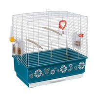 Ferplast Rekord 3 Bird Cage with  blue decorations