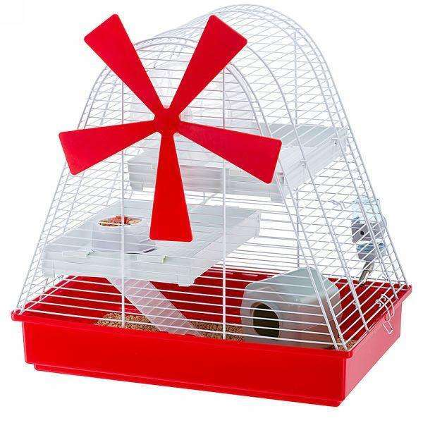 Ferplast Magic Mill Multi-level hamster cage with Windmill design.