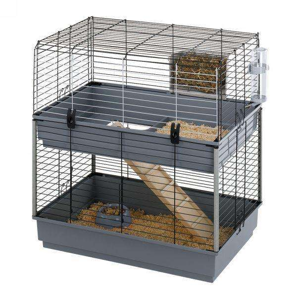 Ferplast Cavie 80 Double Guinea Pig Cage, With Two Floors