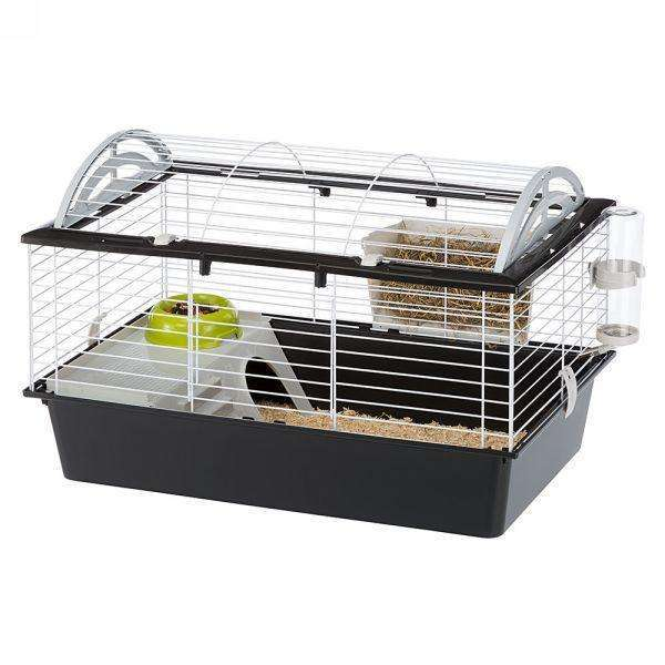 Ferplast Casita 80 Rabbit And Guinea Pig Cage, With Wide Room
