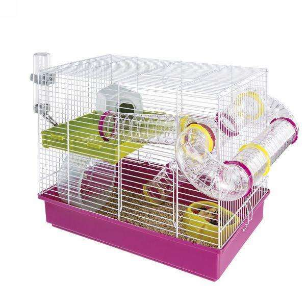 Ferplast Laura Hamster cage on two floors, complete with tubes