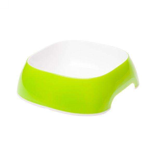 Ferplast Glam Medium Plastic Bowl For Dogs And Cats Green