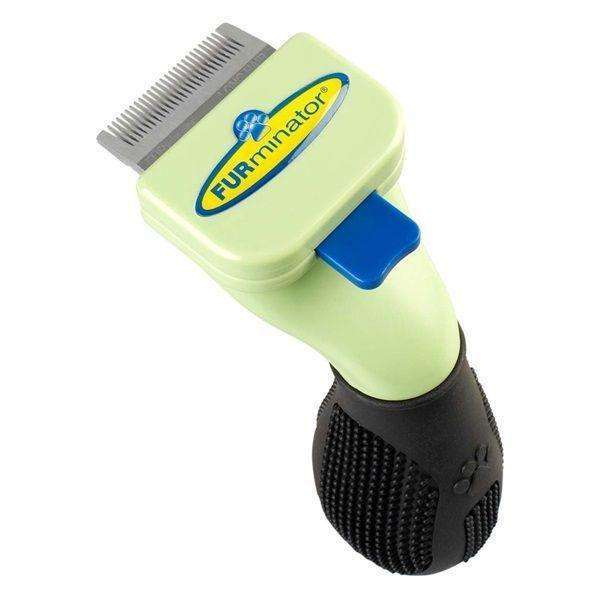 FURminator Short Hair DeShedding Brush for Extra Small Dogs