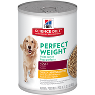 Hill's Canine Adult Perfect Weight Chicken & Vegetables - Can 360g