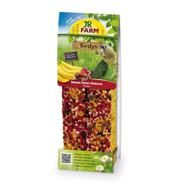 JR FARM Birdys Parrott food with  Bananas-Dates-Raspberries 2pcs