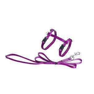 Karlie Sportiv Cat Lead and Harness Cyclamen  110cm x 10mm
