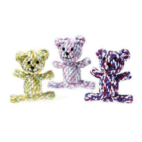 Karlie Dog Toy Puppy Cotton Bears - 11cm Assorted Colors