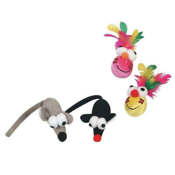 Karlie Flamingo Cat Toy Goofy Mouse and Head, NEW