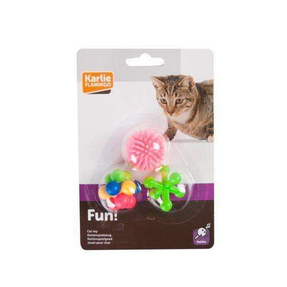 Karlie Flamingo Cat Toy Rubber Cat Toy Set of 3,NEW
