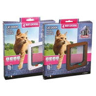 Karlie Flamingo Cat Door 4-Way Brown 20cm*19,2cm