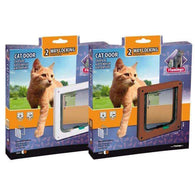 Karlie Flamingo Cat Door 2-Way Brown, 19,2cm*20cm