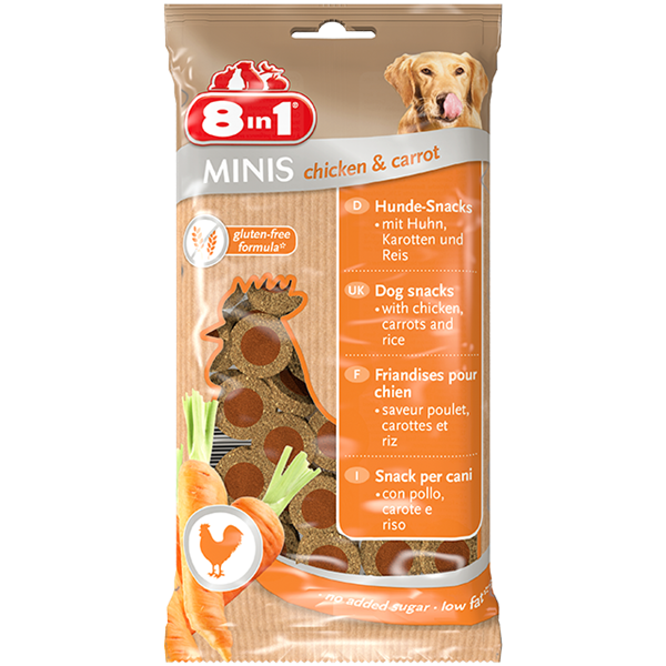 8in1 Minis Chicken & Carrot - 100g