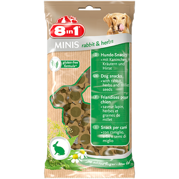 8in1 Minis Rabbit & Herbs - 100g