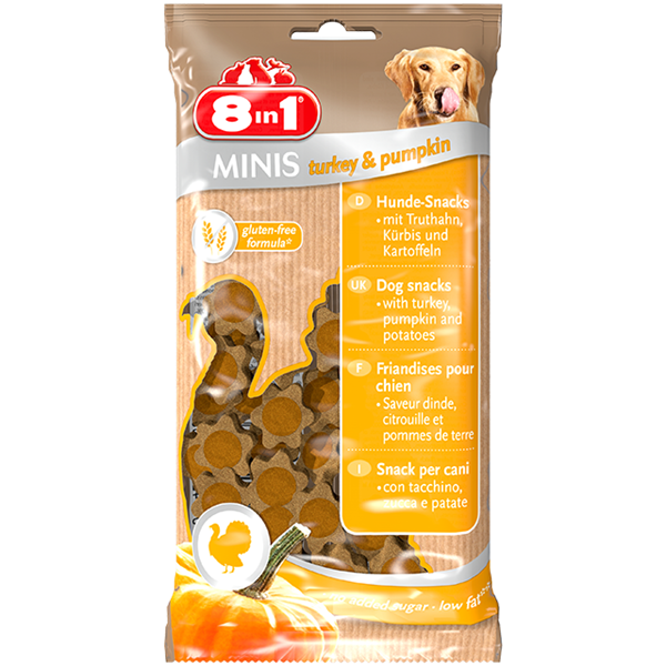 8in1 Minis Turkey & Pumpkin - 100g