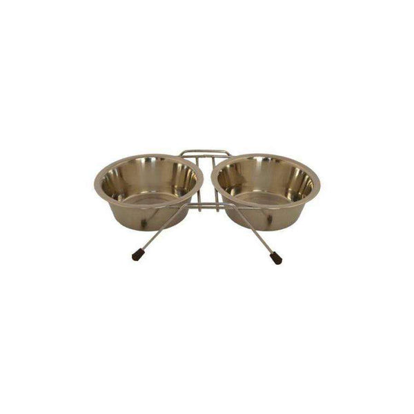 Papillon Double Dinner Wire Frame Including Bowls Metal 2 x 0,75L