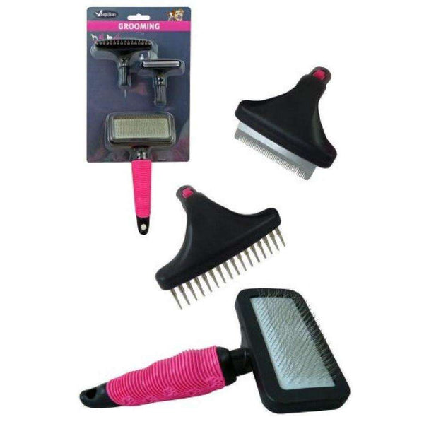 Papillon Brush 3in1 Interchangeable Grooming Set For Dogs