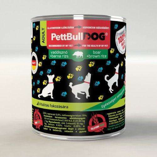 PettBullDog Adult - Wild boar with brown rice (800 gr)