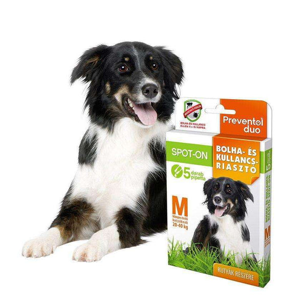 Preventol Duo Flea and Tick spot-on for dogs M (20-40kg)