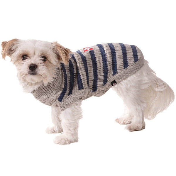 Trixie Milton Dog Pullover, 60 cm, Grey/Blue - L