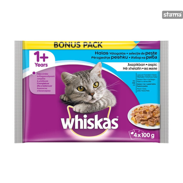 Whiskas Pouch Fish Selection Adult 4x100g