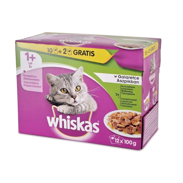 Whiskas Pouch 100g 12-Pack Meat