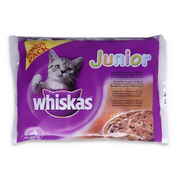 Whiskas Junior Pouch - 100g 4-Pack Bonus