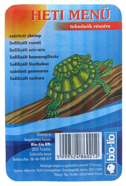 Bio-Lio Turtle Food Weekly Menu - 400ml
