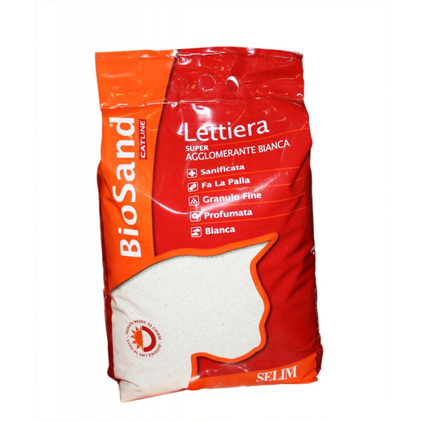 Biosan White Super Clumping Cat Litter - 10l