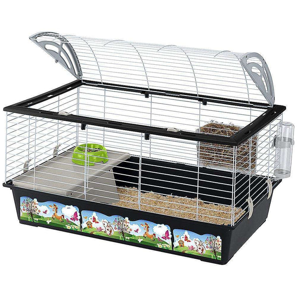 Ferplast Casita 100 Large Rabbit Cage, With Decorations
