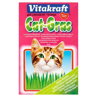 Vitakraft Cat Grass Seed Refill Bag - 50g