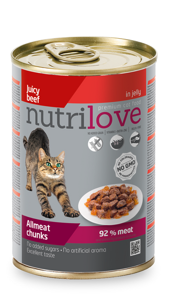 Nutrilove Adult Cat Beef - Can 400gr