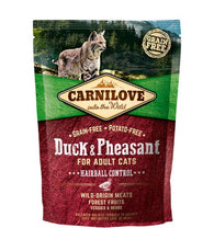 Carnilove Cat Adult Duck & Pheasant – Hairball Control 400g