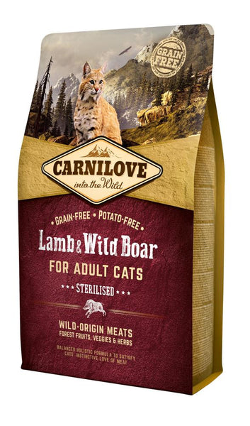 Carnilove Cat Adult Sterilised Lamb & Wild Boar 6kg