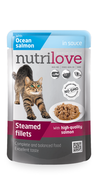 Nutrilove Adult Cat Salmon in sauce - Pouch 85gr