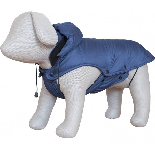 Czi-Sza Dog Cloth Lined Sweatshirt with Patent and Hoody L 55cm Blue