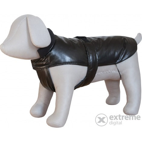 Czi-Sza Dog Clothes Mini Lined Leather 16cm Black