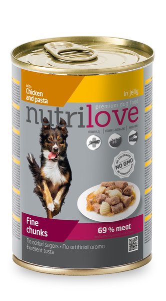 Nutrilove Adult Dog Chicken and Pasta - Can 415gr